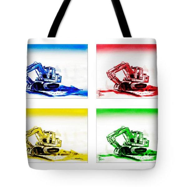 Dozer Mania Tote Bag by Kip DeVore