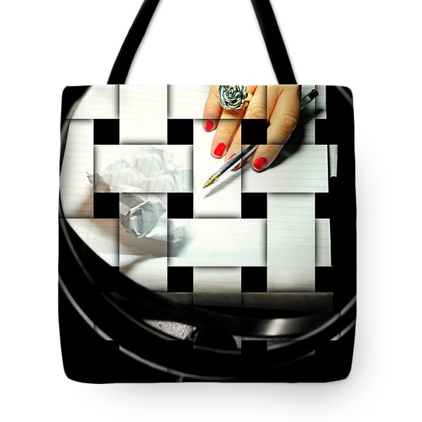 Draft Tote Bag by Diana Angstadt