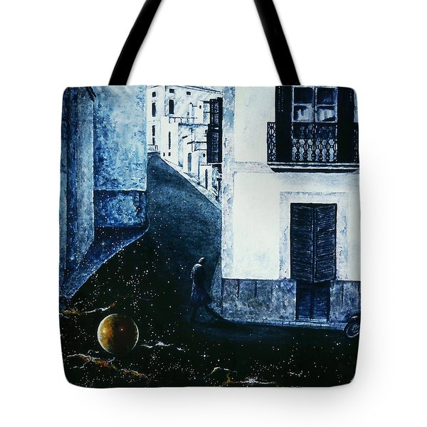 Tote Bag featuring the painting Dream  Walker by Hartmut Jager