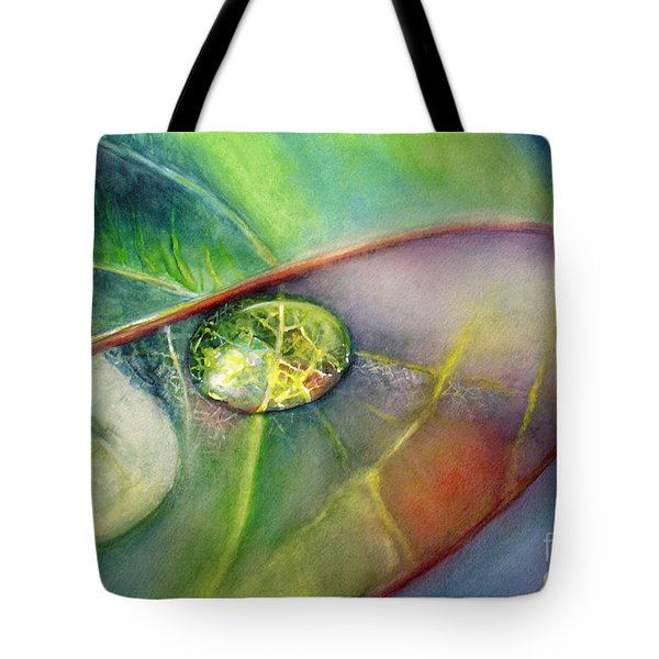 Tote Bag featuring the painting Drops by Allison Ashton