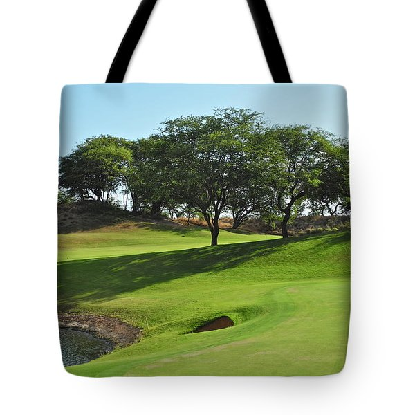 Tote Bag featuring the photograph Dunes Of Maui Lani Golf Course  by Kirsten Giving