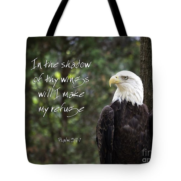 Eagle Scripture Tote Bag