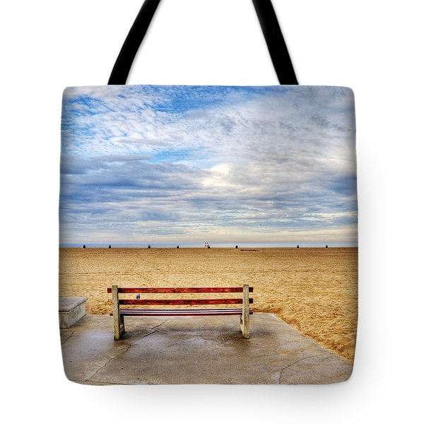 Early Morning At The Beach Tote Bag by Chuck Staley