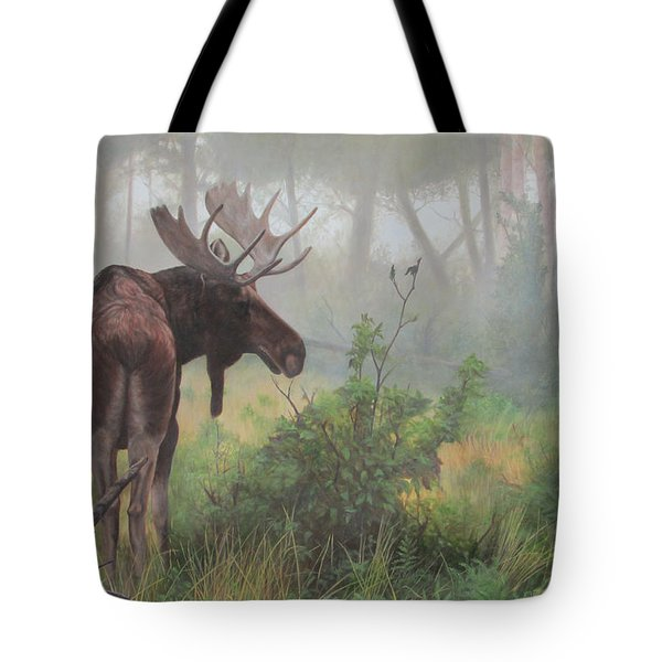 Tote Bag featuring the painting Early Morning Mist by Tammy Taylor