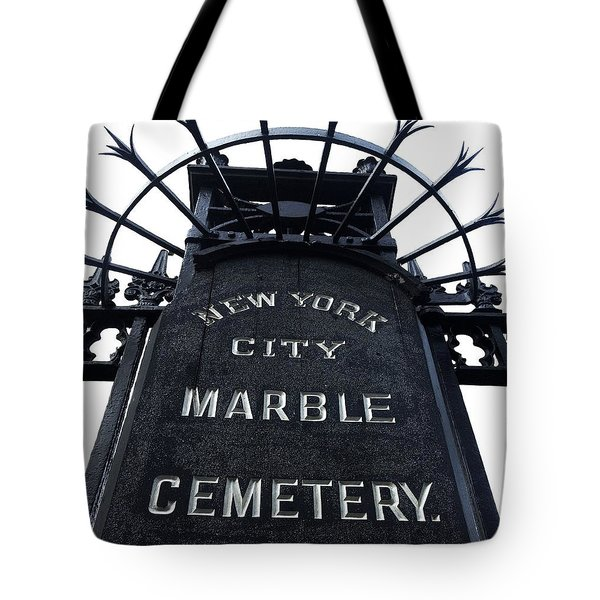 East Village Cemetery Tote Bag by Natasha Marco