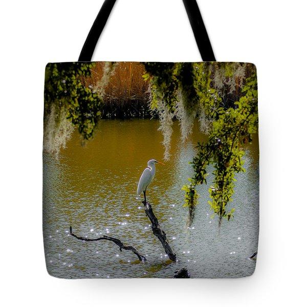 Egret Tote Bag