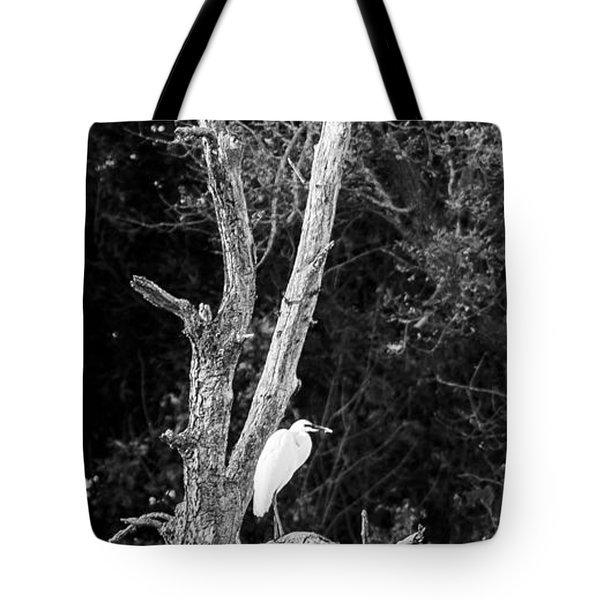 Egret Tote Bag by Steven Ralser