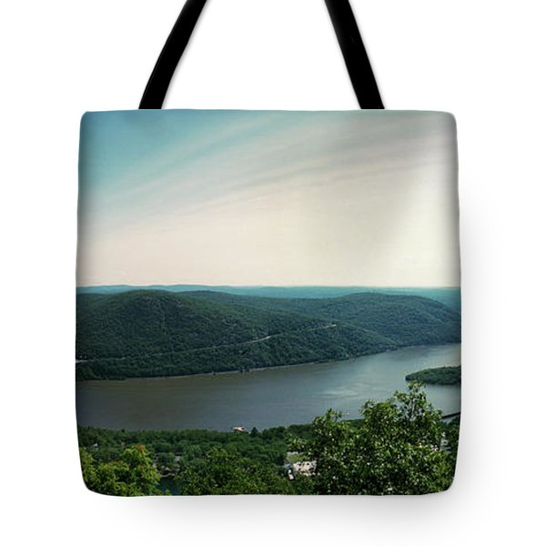 Elevated View Of The Hudson River Tote Bag