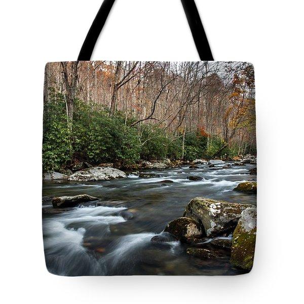 Elkmont Stream Tote Bag by Debbie Green