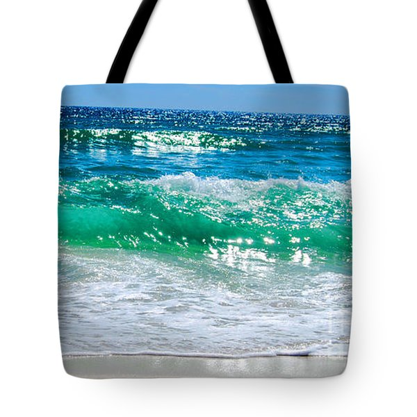 Emerald Curl Tote Bag