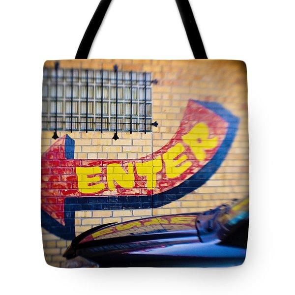 Enter Tote Bag by Scott Pellegrin