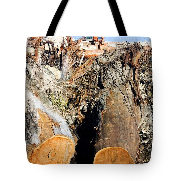 Environmental Destruction In Construction  Tote Bag