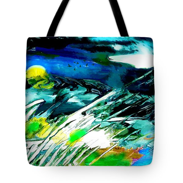 Tote Bag featuring the painting Esperanto by Ron Richard Baviello