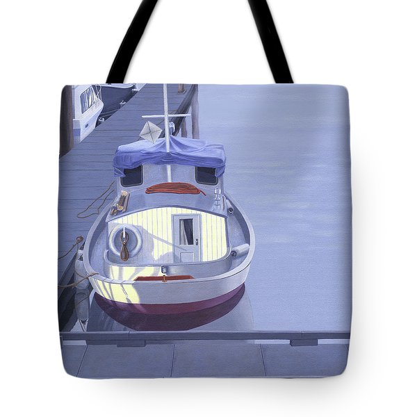 Tote Bag featuring the painting Evening At Port Hardy by Gary Giacomelli