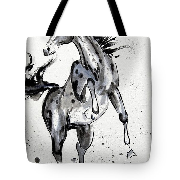Tote Bag featuring the painting Exuberance by Bill Searle