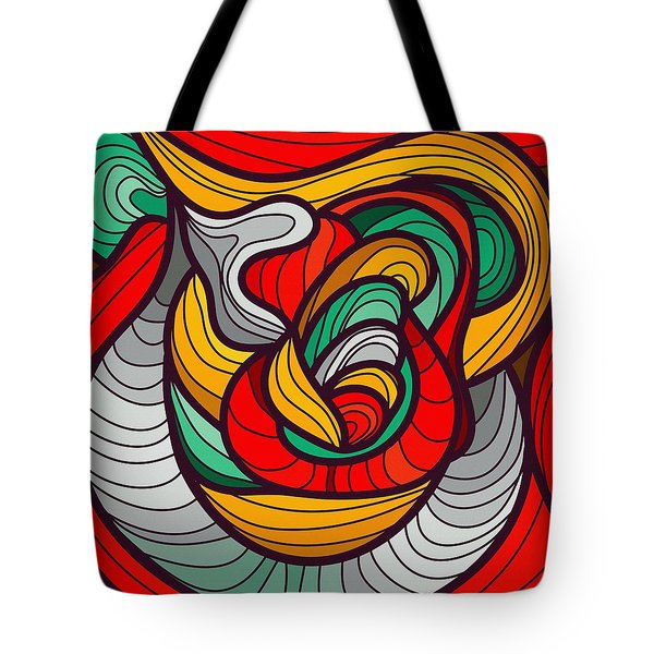 Faces Tote Bag by Don Kuing