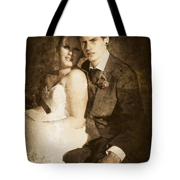 Faded Vintage Wedding Photograph Tote Bag