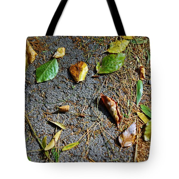 Fallen Leaves Tote Bag by Carlos Caetano