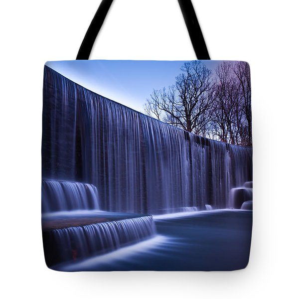 Tote Bag featuring the photograph Falling Water by Mihai Andritoiu