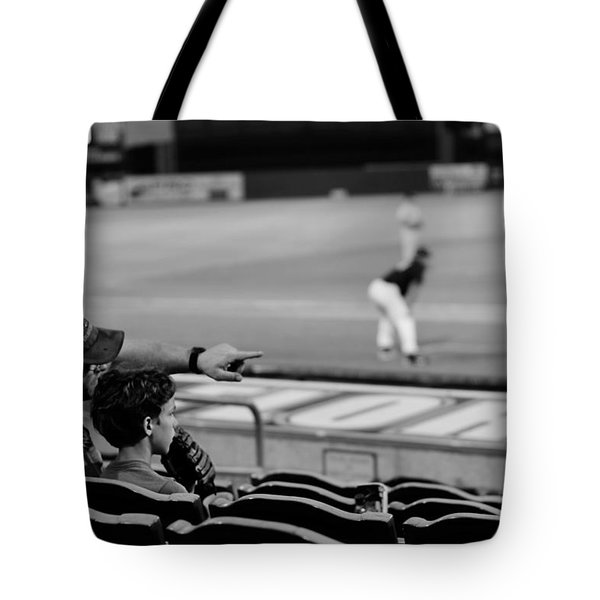 Father To Son Tote Bag by Laura Fasulo