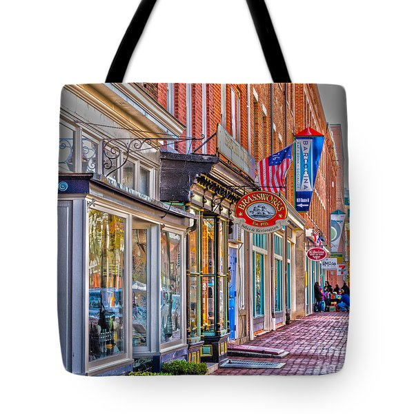 Tote Bag featuring the photograph Federal Hill Storefronts by William Norton