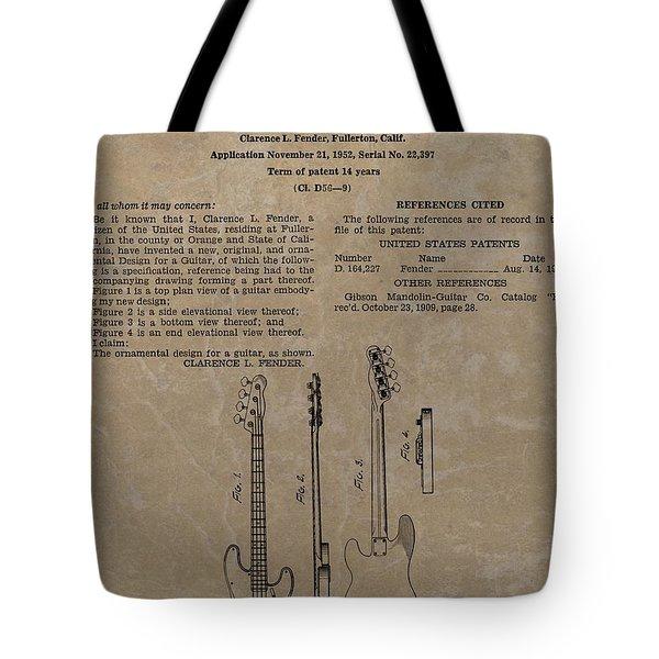 Fender Guitar Patent Tote Bag