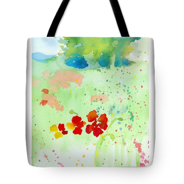 Field Of Flowers Tote Bag by C Sitton