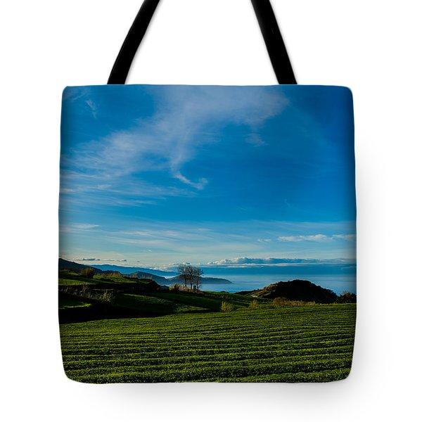 Field Of Tea Tote Bag