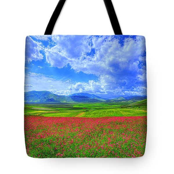 Fields Of Dreams Tote Bag by Midori Chan