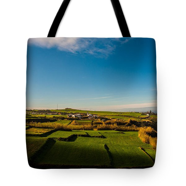Fields Of Green And Yellow Tote Bag