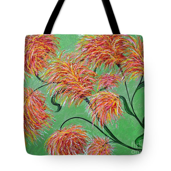 Tote Bag featuring the painting Fireworks by Alys Caviness-Gober