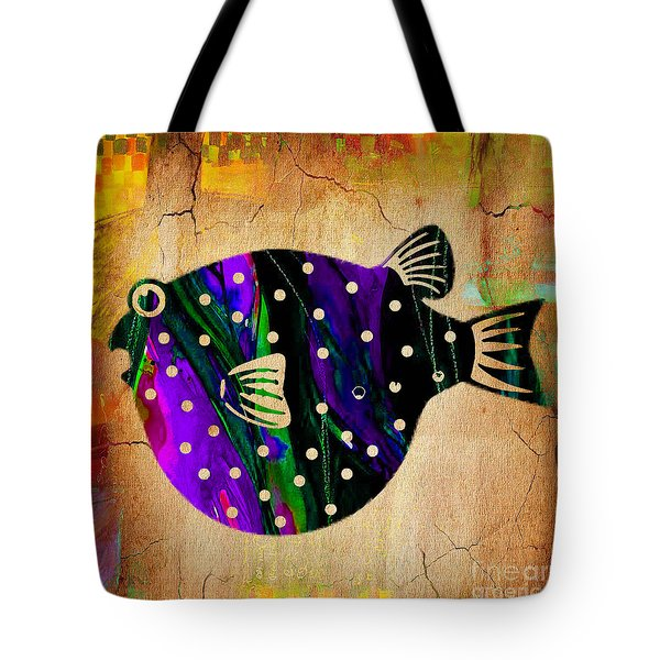 Fish Art Tote Bag by Marvin Blaine
