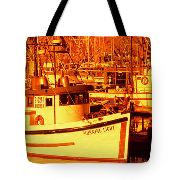 Fishing Boats In The Bay, Morro Bay Tote Bag