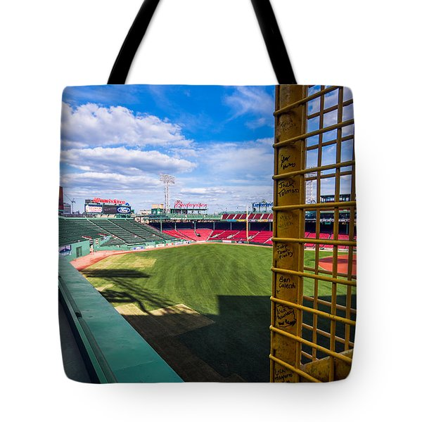 Fisk's Pole And The Green Monster Tote Bag