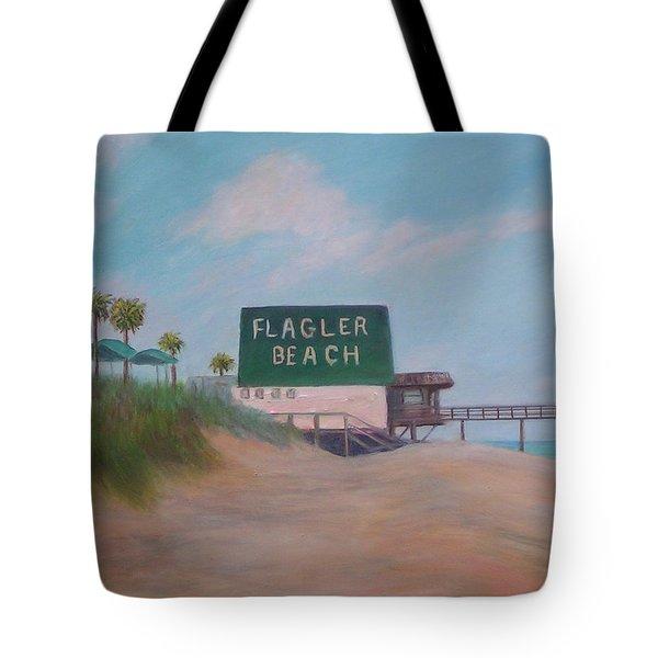 Flagler Beach Florida Tote Bag