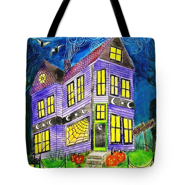 Flight Of The Moon Witch On Hallows Eve Tote Bag