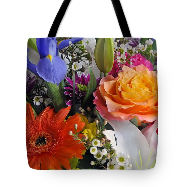 Floral Bouquet 5 Tote Bag by Sharon Talson