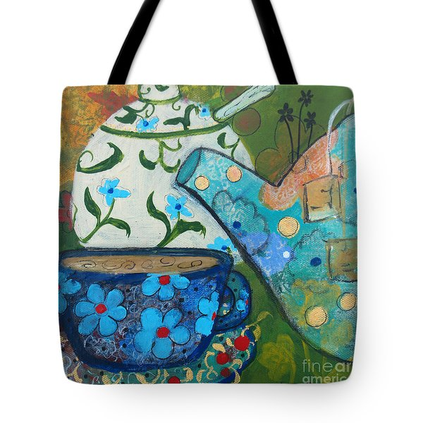 Floral Tea Tote Bag