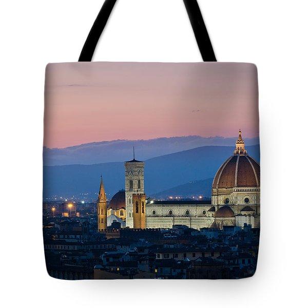 Florence At Sunset Tote Bag