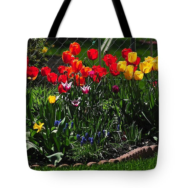 Flower Garden Tote Bag by Frozen in Time Fine Art Photography