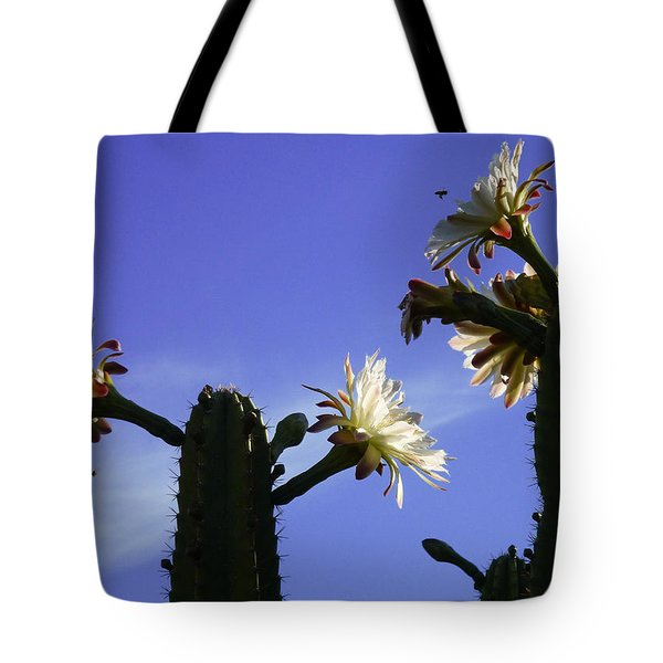 Flowering Cactus 4 Tote Bag