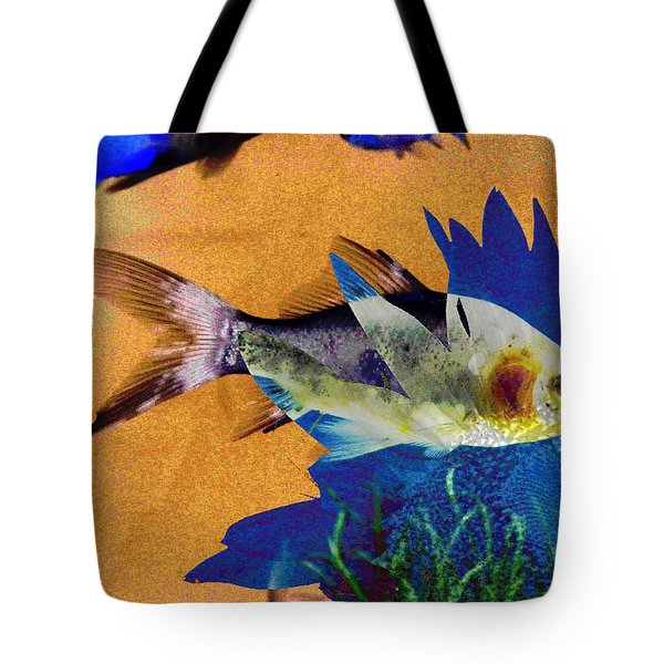 Flowers And Fins Tote Bag by Lenore Senior