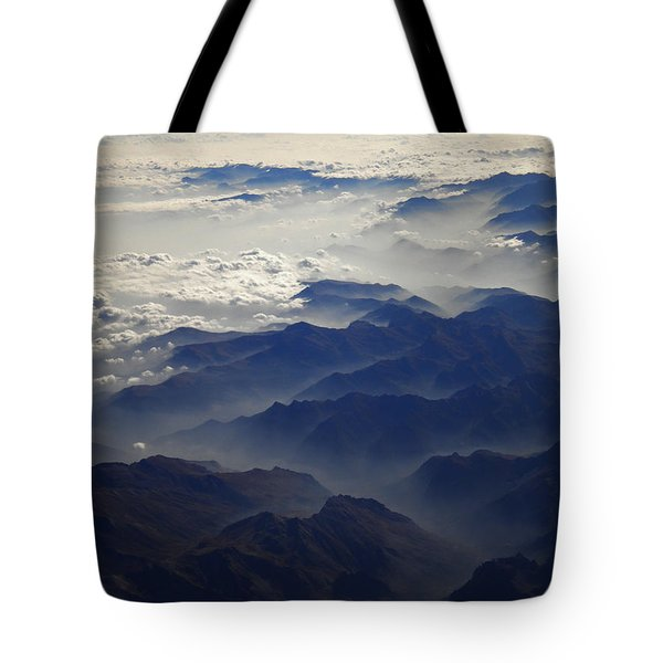 Flying Over The Alps In Europe Tote Bag