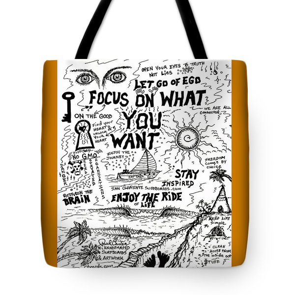 Focus On What You Want Tote Bag