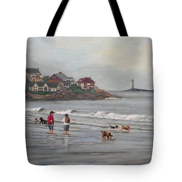 Fog Rolling In On Good Harbor Beach Tote Bag