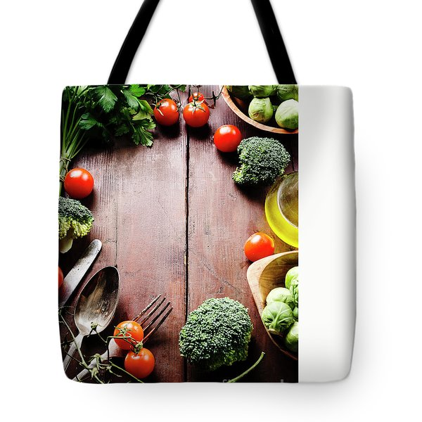 Food Ingredients Tote Bag