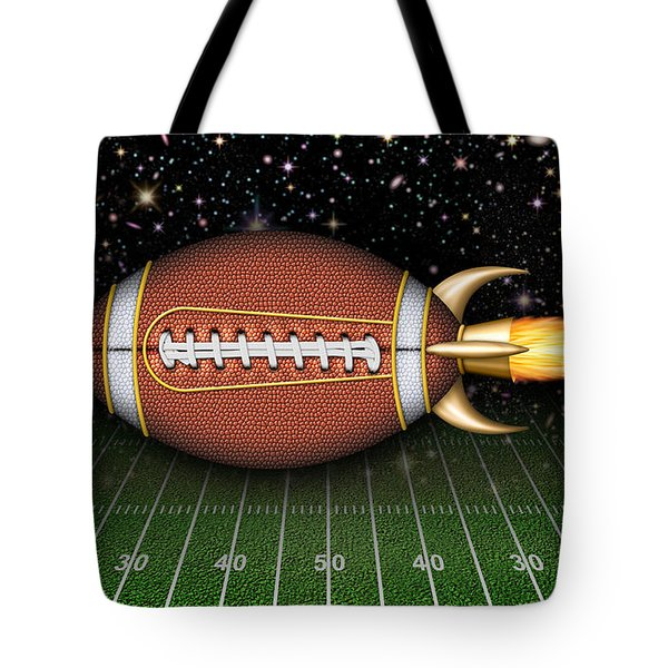 Football Spaceship Tote Bag