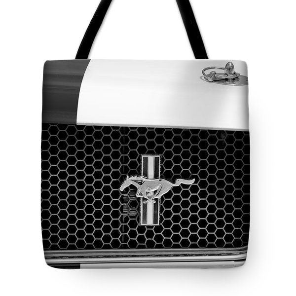 Ford Mustang Gt 350 Grille Emblem Tote Bag by Jill Reger