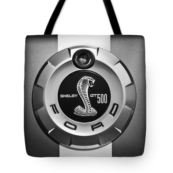 Ford Shelby Gt 500 Cobra Emblem Tote Bag by Jill Reger