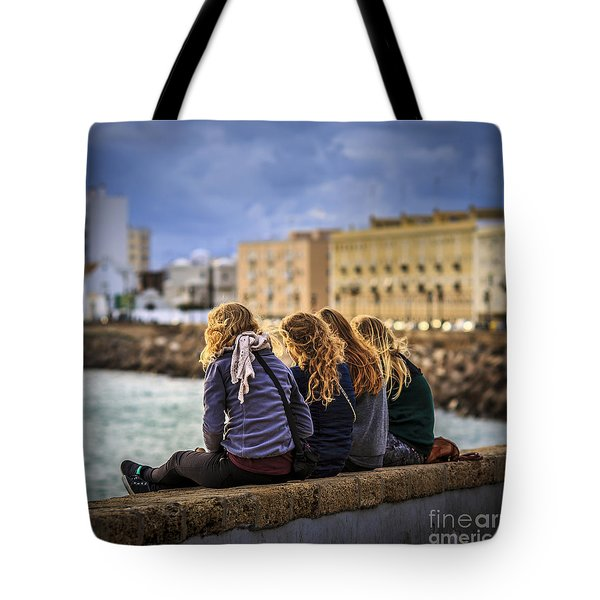 Foreign Students Cadiz Spain Tote Bag